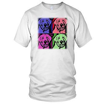 Labrador Pet Dog Pop Art Design Ladies T Shirt