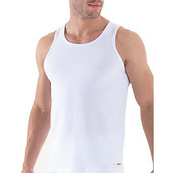 BlackSpade Tender Cotton Lite Mens White Singlet Vests 2 Pack M9678