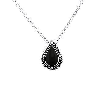 Tear Drop - 925 Sterling Sølv Plain halskæder - W23853X