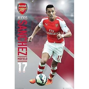 Arsenal Emirates Alexis Sanchez 17 2014-2015 Poster Poster Print