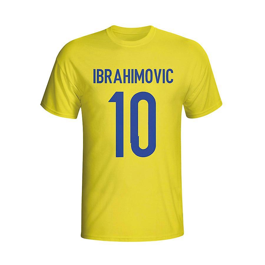 Zlatan Ibrahomovic Sverige helten T-shirt (gul) - barn