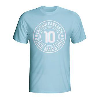 Diego Maradona Argentine Captain Fantastic T-shirt (bleu ciel)