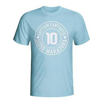 Diego Maradona Argentina Captain Fantastic T-shirt (himmelblå)