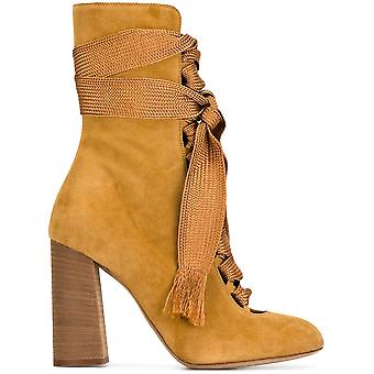 Chloé ladies CH25534E01 yellow suede boots