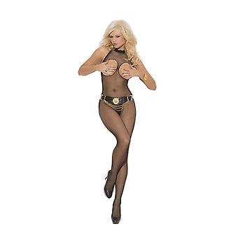 Elegante momenten EM-1651 Fishnet Bodystocking open buste Kruis ook in plus size