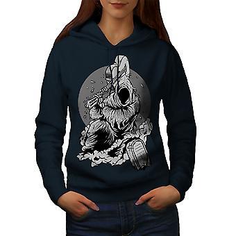 Grim Reaper Evil Horror Women NavyHoodie | Wellcoda