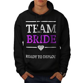 Team bruid leuke mannen BlackHoodie | Wellcoda