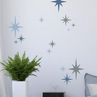 Set Of Six 8-point Star Stencils