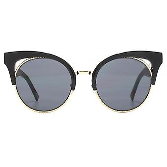 Marc Jacobs Metal Twist Browline Style Sunglasses In Black
