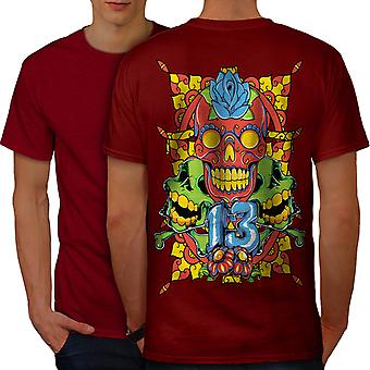 Sugar Face Evil Art Men RedT-shirt Back | Wellcoda