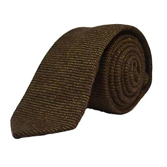 Brown Sharkskin Tie