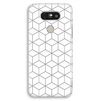 LG G5 Full Print Case - Cubes black and white