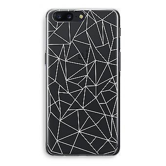 OnePlus 5 Transparant Case - Geometric lines white