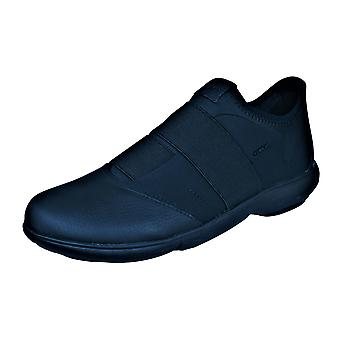 Mens Geox Trainers U Nebula A Slip On Casual Shoes - Black