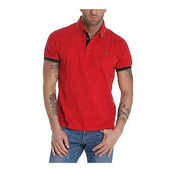 ETRO men's 1Y8009156604 red cotton polo shirt