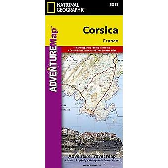 Corsica  Travel Maps International Adventure Map by National Geographic Maps