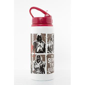 Assassins Creed pochoir Aluminium verre bouteille