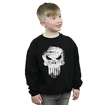 Marvel Boys The Punisher Distrressed Skull Sweatshirt
