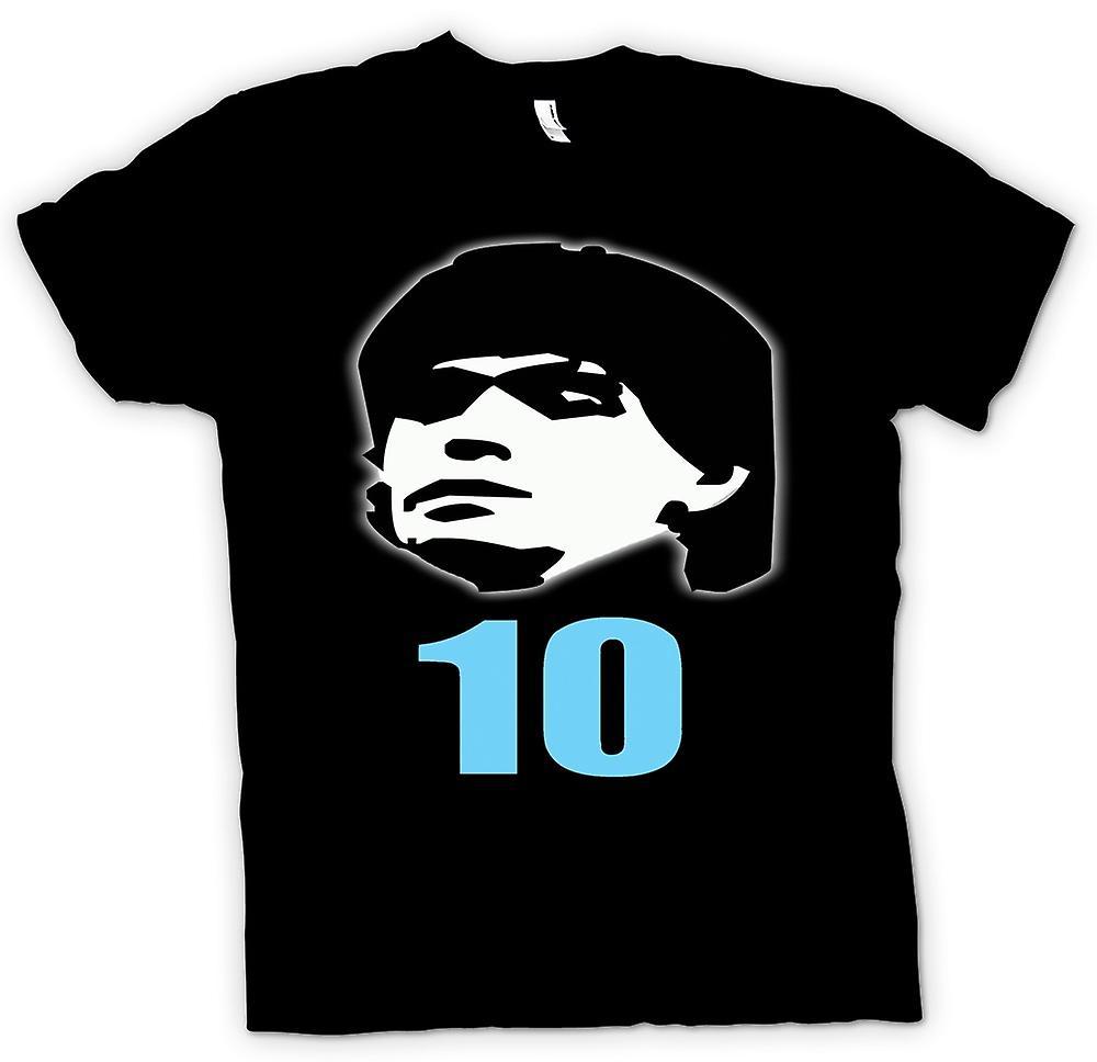 Heren T-shirt - Diego Maradonna 10 - Argentinië