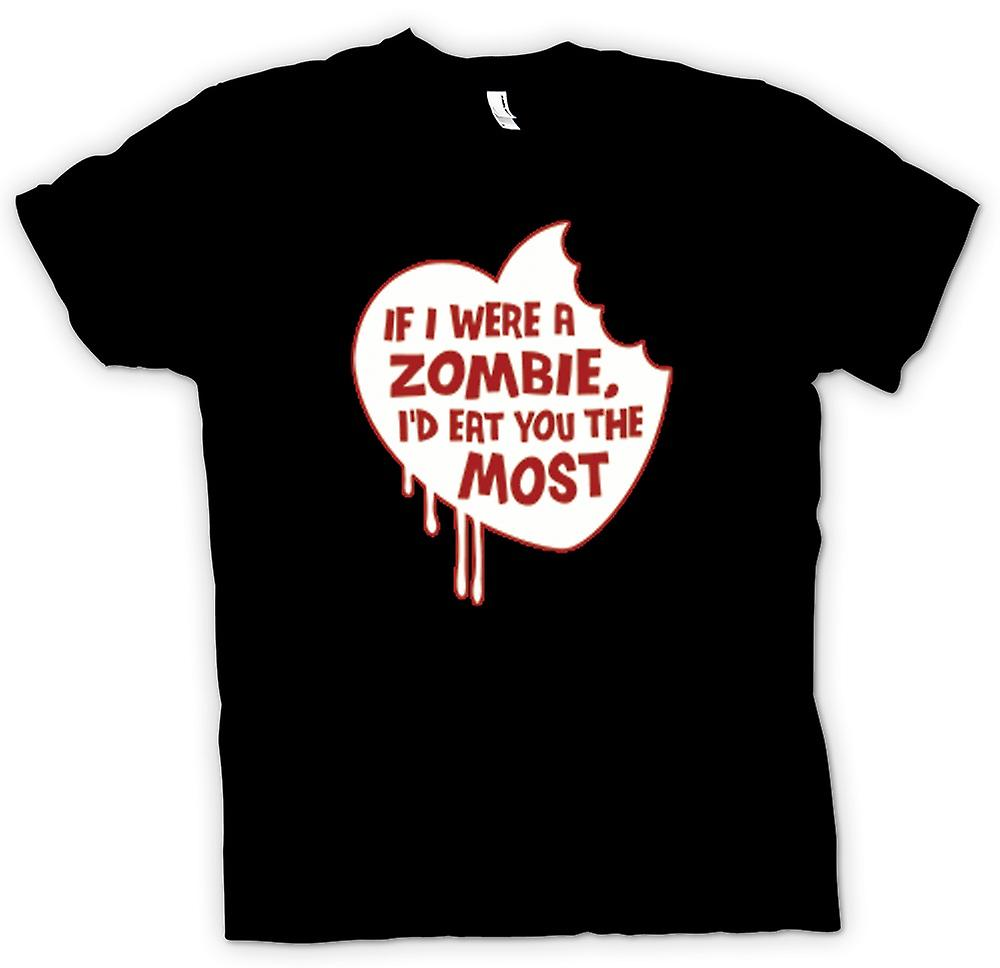 Kids T-shirt - If I Were A Zombie I'd Eat You The Most