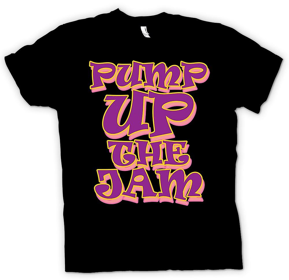 Mens T-shirt - Pump Up The Jam - Classic Music