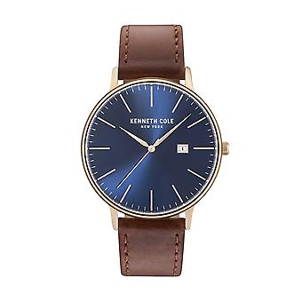 Kenneth Cole New York men's watch wristwatch leather KC15059007
