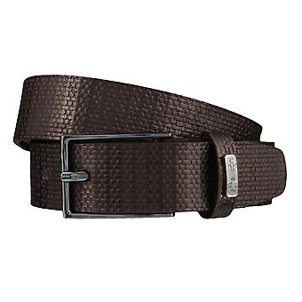 Strellson belts men's belts leather leather belt Brown 3809