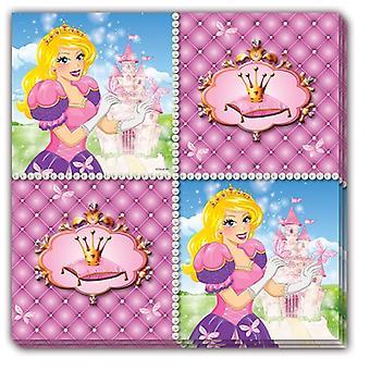 Serviettes servietter prinsesse barn fest bursdag 33x33cm 16 bit