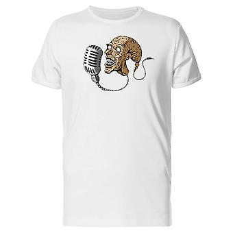 Microphone Music Mad Man Head Tee Men's -Image by Shutterstock