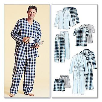 Men's Robe, Belt, Tops, Pants and Shorts-Z (XLG-XXL) -*SEWING PATTERN*