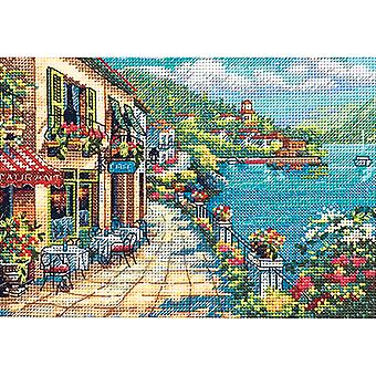 Gold Petite Overlook Cafe Counted Cross Stitch Kit-7