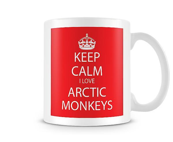 Keep Calm I Love Arctic Monkeys Printed Mug