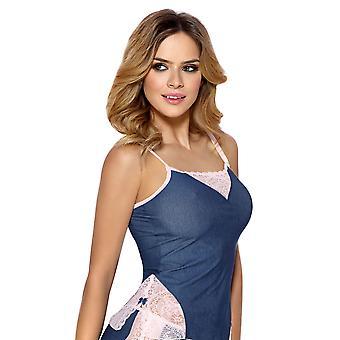 Vena VK-1338 kvinners Jean blå pyjamas Pyjama sett