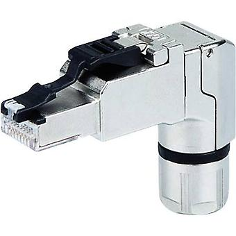 RJ45 plug angled, Field attachable Plug, straight MFP8-4x90 T568A Cat.6A Telegärtner J00026A4003 1 pc(s)