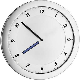 TFA 60.3027.54 kwarcowy zegar 28 cm x 15 mm x 1,5 cm Srebrny metaliczny