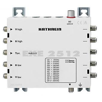 Kathrein EXE 2512 SAT unicable cascade multiswitch Inputs (multiswitches): 5 (4 SAT/1 terrestrial) No. of participants: 12