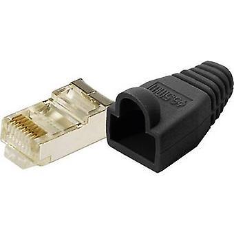 LogiLink MP0012 Plug CAT 5E protéger jaune prise RJ45 8P8C, droite noire