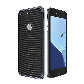 Hybrid Silikon Handy Hülle für Apple iPhone 8 Case Cover Tasche Blau