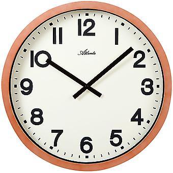Atlanta 4437 wall clock quartz analog copper colors round