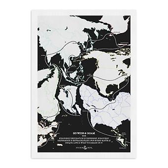 Go Wide And Roam Archival Giclée Paper A3 Wall Print