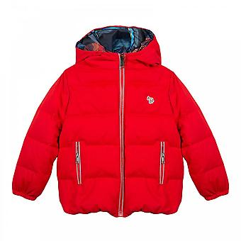 Paul Smith Infants Samuel Reversible Down Jacket (Red / Multi)