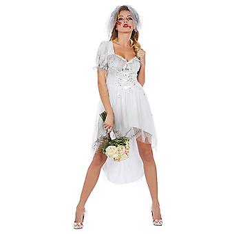 Bloody bride women's costume bloody bride dress Halloween Carnival