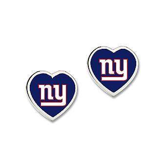 Wincraft ladies 3D heart Stud Earrings - NFL New York Giants