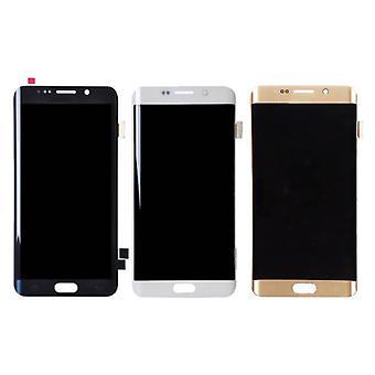 Roba certificata® Samsung Galaxy S6 bordo schermo (LCD + Touch Screen + parti) AAA + qualità - nero / bianco / oro