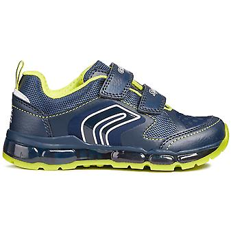 Geox Boys Android J8444A Trainers Navy Lime