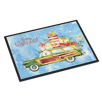Merry Christmas Japanese Spitz Indoor or Outdoor Mat 24x36