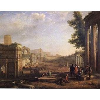 View of the Campo Vaccino, Claude Lorrain, 56x72cm