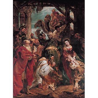 The Adoration of The Magi, Peter Paul Rubens, 50x40cm