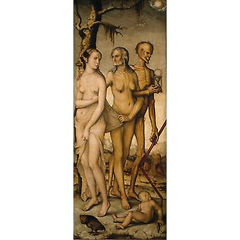 The Three Ages and Death, His Baldung Grien, 80x40cm