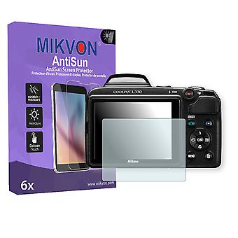 Nikon COOLPIX L330 Screen Protector - Mikvon AntiSun (Retail Package with accessories)